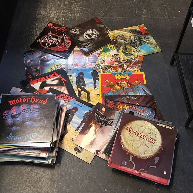 Fresh batch of used metal! #vinyl #metal #speedcityrecords
